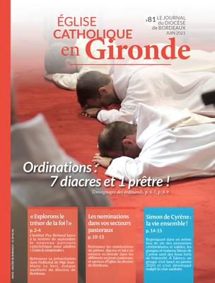 Téléchargez le journal mensuel du diocèse de Bordeaux de juin 2021.