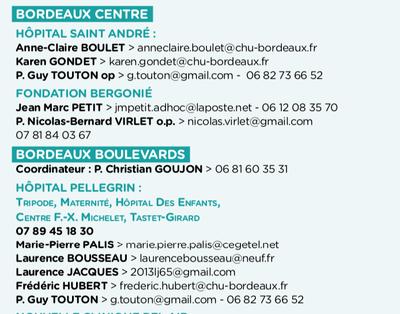Retrouvez les coordonnées des aumôneries d'hôpitaux et d'établissements de santé en Gironde.
