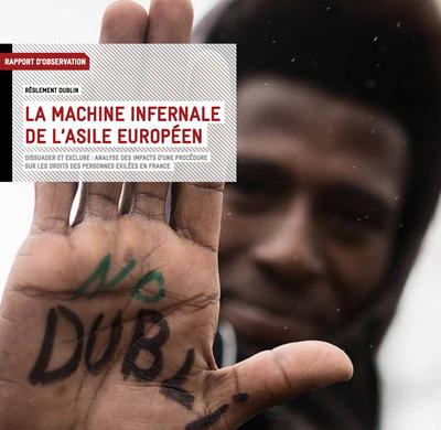 """Retrouvez la version pdf du rapport 2019 de la Cimade sur """"la machine infernale de l'asile européen""""."""