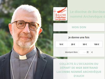 Le diocèse de Bordeaux souhaite remercier Mgr Bertrand Lacombe nouvellement nommé Archevêque d'Auch par le Pape François.