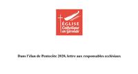 Dans l'élan de Pentecôte 2020, lettre aux responsables ecclésiaux