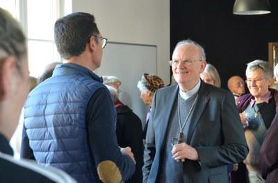 Les 2 et 3 décembre dernier, Mgr Jean-Paul James, archevêque nommé du diocèse de Bordeaux et Bazas, est venu en Gironde pour rencontrer les responsables des services diocésains et salariés de l'archevêché et de la maison diocésaine.