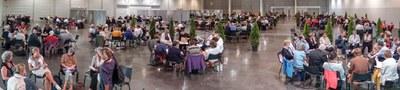 """Le 29 septembre 2018, 750 personnes se sont réunies à l'invitation de Mgr Ricard pour un """"Voyage au cœur de la Mission"""". Une Assemblée diocésaine post-synodale, au Palais des Congrés de Bordeaux, pour travailler à la mise en œuvre des décisions synodales dans nos communautés de Gironde."""