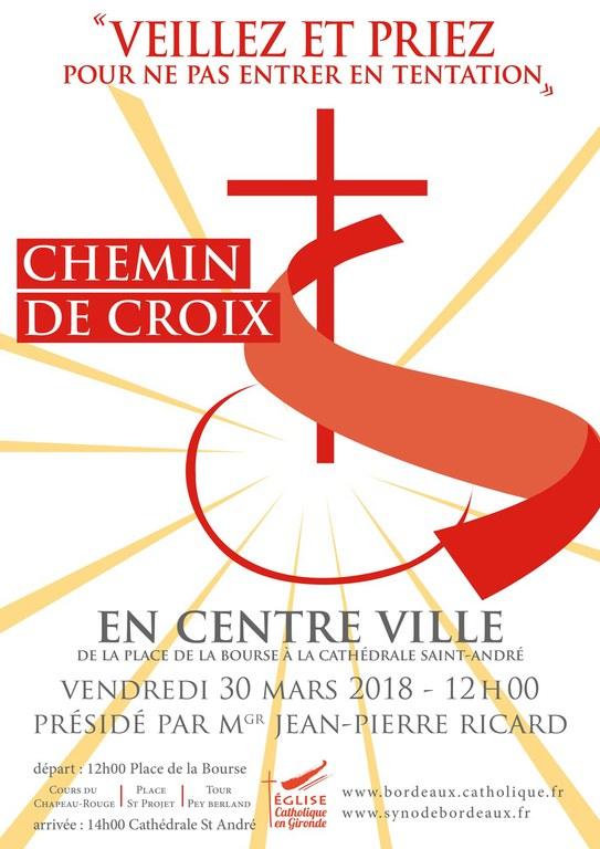 Affiche Chemin de Croix du Vendredi saint 2018