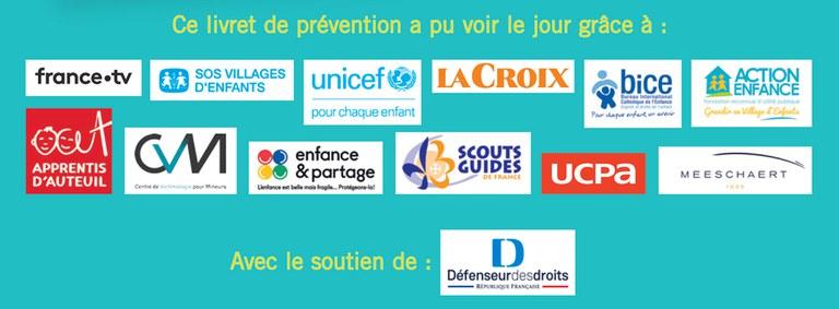 logos partenaires bayard jeunesse livret prévention