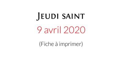 Téléchargez et imprimez la fiche de la célébration domestique proposée par la Pastorale liturgique et sacramentelle du diocèse de Bordeaux pour vivre ce Jeudi saint.