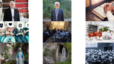 """Près de 3000 pèlerins se sont réunis """"en ligne"""" ce 9 et 10 mai 2020 pour chemin, depuis chez eux, avec Marie. Retrouvez les propositions d'ateliers, les vidéos des enseignements, table-ronde, etc..."""